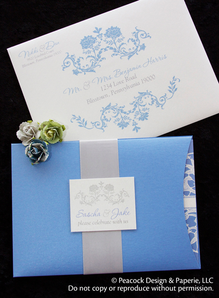 Couture wedding and anniversary invitations with pockets and other jackets stopboris